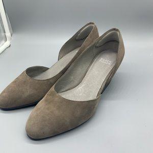 Eileen Fisher Shoes - Eileen Fisher suede mini heel slip on